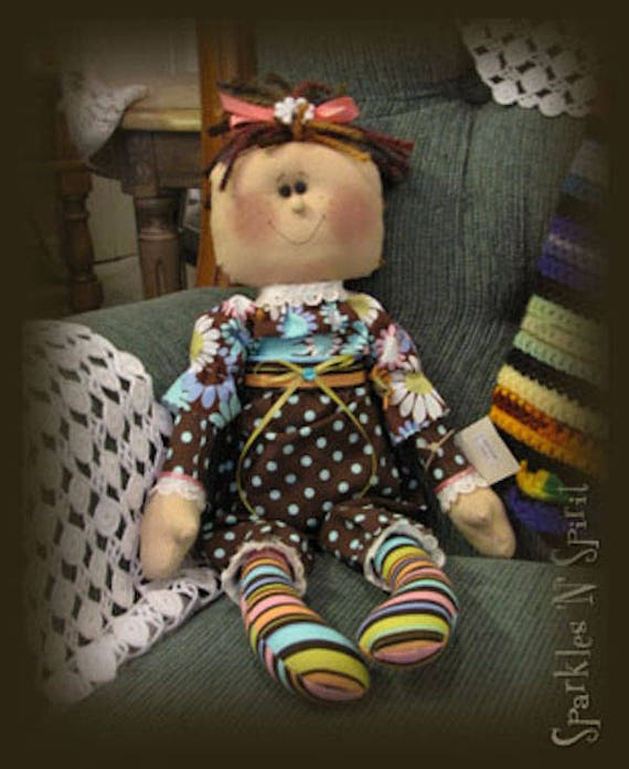 "Doll Kit: ""Chloe"" - 16"" Retro Raggedie doll"