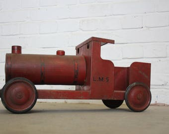 Large Tin Toy Train Circa 1950s