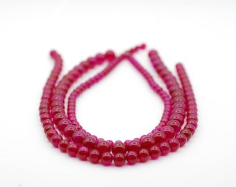 Dyed Ruby Agate Beads