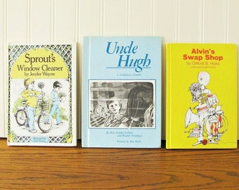 Boys Books Tween Books Weekly Reader Young Readers Chapter Book Elementary Reader Sprouts Window Cleaner, Uncle Hugh, Alvin's Swap Shop