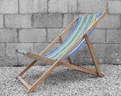 Vintage Deck Chair Garden Lounger Summer Seat