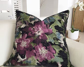 Cushions, Pillows, Floral Cushion Cover, Chenille Cushions, Floral Cushion Cover, Bold Floral Scatter Cushions, Throw Pillow Cover Only.