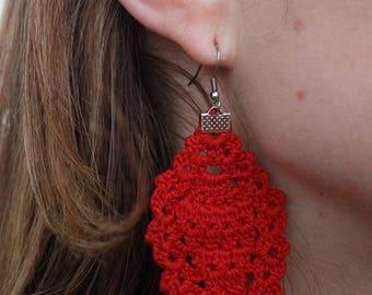 Earring hook over cotton - pendant chandelier (large format) - look lace - workshops Jason - choose your color