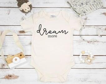 Organic Baby Gift, DREAM MORE, Organic Baby Clothes, Baby Shower Gift, Organic Baby Gifts, Organic Baby, Organic Bodysuit, Organic Mom Gift