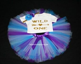 Wild One Birthday Outfit, Girls Birthday Tutu, First Birthday Girl Outfit, Birthday Tutu, 1st Birthday Tutu Set, 1st Birthday Tutu, Wild ONE