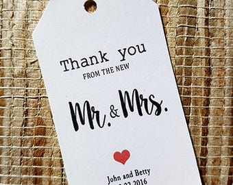 Thank You Tags Wedding Favor Tags Small Favor Tags Gift Tags Choose Quantity