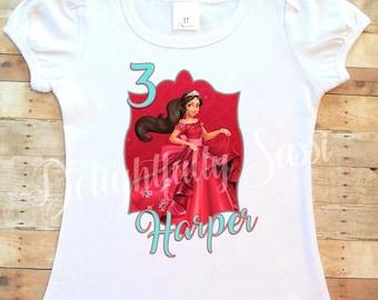 Elena of Avalor Birthday Shirt, Birthday Shirt, Personalized Shirt, Personalized Birthday Shirt, Elena of Avalor, Girls Birthday Shirt