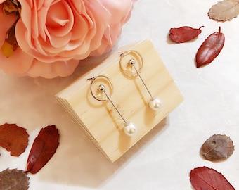 Sweet Encounter Collection | Acrylic Pearl Beads Earrings, Minimalist Earrings, Geometric Earrings, Wedding Earrings, Bridesmaid Earrings