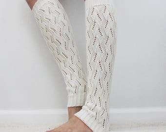 white leg warmers & boot socks for winter