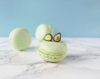 Avocado Earrings, Miniature Food Earrings, Avocado Lover gift, Funny Earrings, Foodie Gift, Vegetarian gift, Best friend gift, bff gift