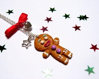 Necklace little cookie snowman gingerbread