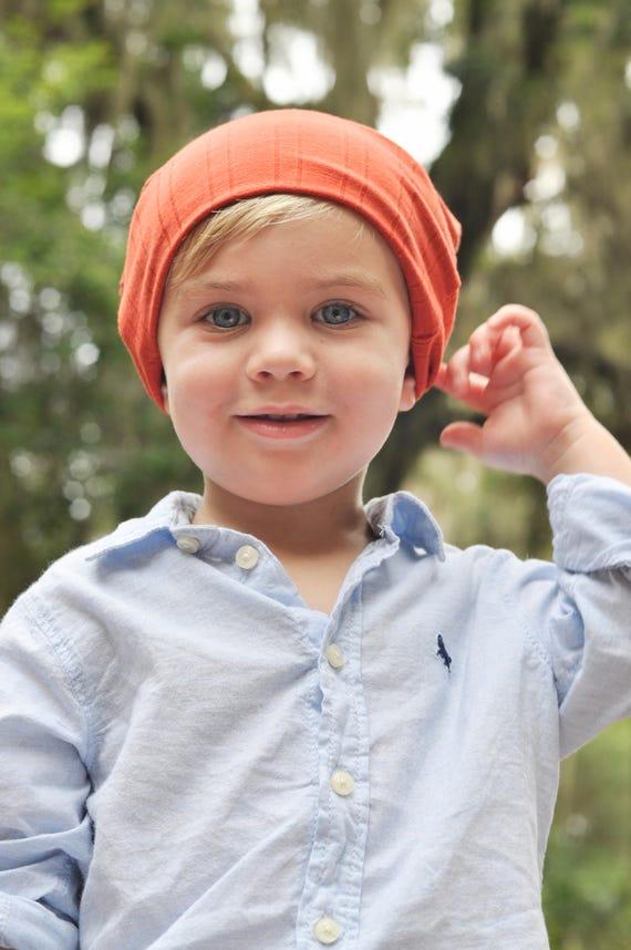 Burnt Orange Slouchy Toddler Beanie - Orange Boy Beanie - Orange Boy Hat - Orange Girl Beanie - Orange Girl Hat - Toddler Beanie - Kid's Hat