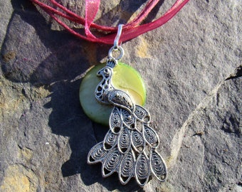 Peacock Moon Necklace