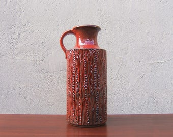Vintage XL Vase / Floor Vase by Carstens Toennieshof - West German Pottery - Mid Century Modern - Fat Lava era
