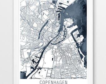 Copenhagen map Etsy