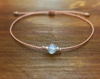 Opalite Bracelet - friendship bracelet - best friend gift - best friend bracelet - bridesmaid gift - faux opal - gift for women