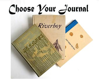 Custom Gift for Fisherman Notebook ~ River Journal with Pockets ~  Beach Diary ~ Travel Sketchbook ~ Gift from the Sea ~ Riverboy [J-68]