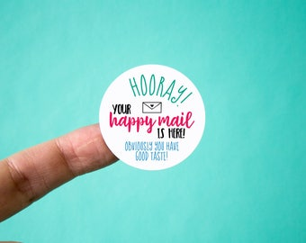 "Happy Mail Stickers 1.5"" Set of 60"