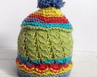 multicolored tassel 3 month Hat