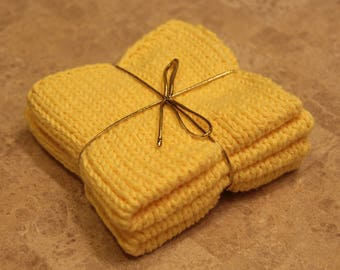Knitted Washcloth for Sensitive Skin//100% Cotton//Set of 2