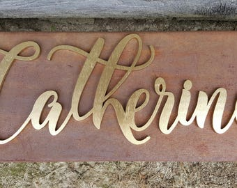 Wall Hanging - Painted Wooden Word - Nursery Wall Hanging - Word Wall Hanging - Wooden Word -  Family Name Wall Hanging