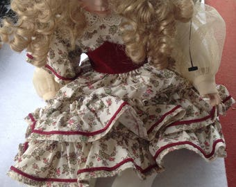 Vintage Ashton Drake Little Women Porcelain  Story Doll Amy