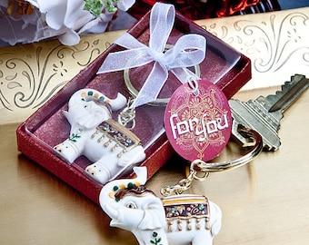 Majestic Elephant Key Chains - Wedding Bridal Shower Party Favor 25-72 Qty  FC6587
