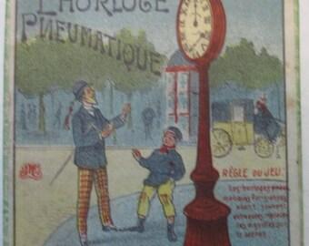 antique dexterity game puzzle clock without hands