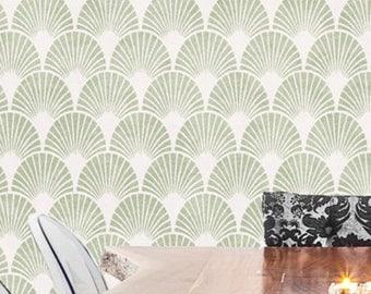 ART DECO Wall Furniture Craft Stencil - 1920's Fan Motif - ARTD01