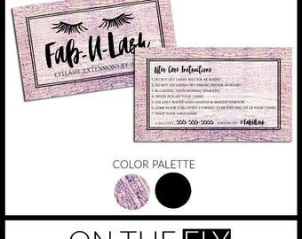Salon Business Card Etsy