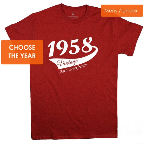 Custom Year (1914-1969) Vintage T-shirt  Ideal Birthday Gift for A Man