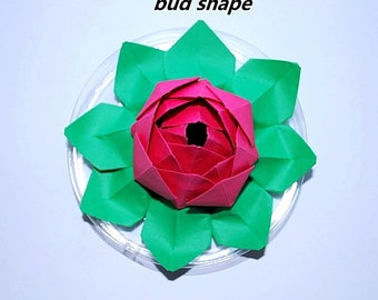 lotus - origami lotus - water lily - paper flower - paper lotus - flower ornament - wedding flowers - party decor - bridal baby shower gift