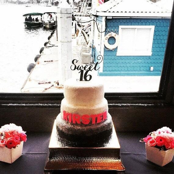 Sweet 16 Cake Topper, 16th Cake Topper, Birthday Cake Topper, Glitter Cake Topper, Rose Gold Cake Topper, Gold Cake Topper, Silver Cake