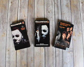HALLOWEEN 4, 5, H20 VHS Lot - Michael Myers - Horror Movies - The Return The Revenge - Jamie Lee Curtis - 80s 90s - Video Party