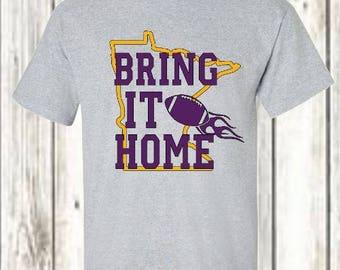 Bring it Home - Minnesota Miracle Vikings Fan t-shirt