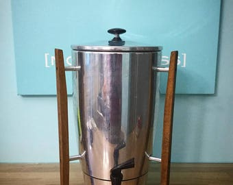 Vintage / 1950's - 1960's / Mid Century Modern / Regal Coffee Maker / No. 7016 / Danish Modern / Atomic Age / 40 Cup / Retro / Space Age