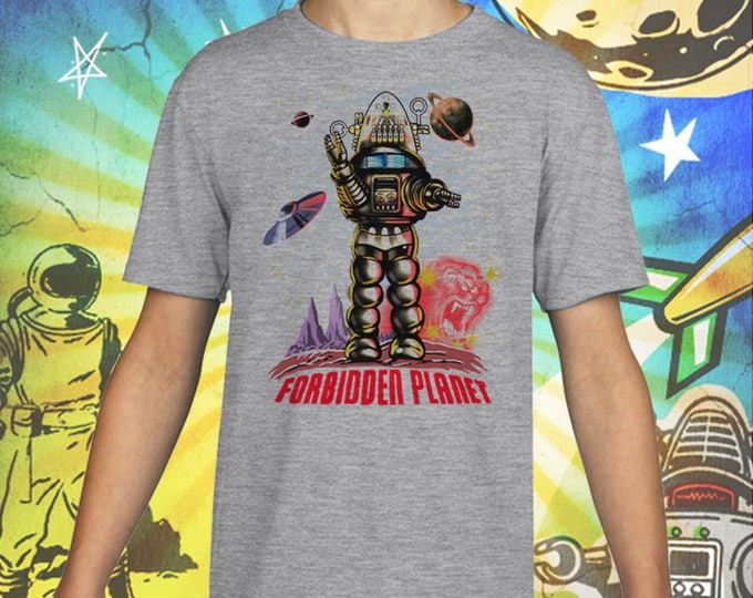 Forbidden Planet / Robby the Robot / Gray Child Size Performance T-Shirt