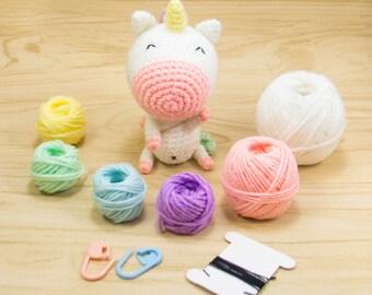 Amigurumi Unicorn Kit - Crochet Unicorn Kit - Unicorn DIY Kit - Unicorn Crochet Kit - Unicorn Amigurumi Kit - Unicorn Plush Kit