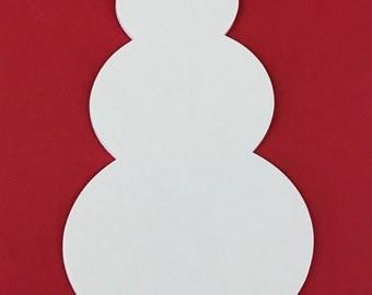 Large Blank Snowman Shape, Snowman Die Cut, Paper Snowman, White Snowman, Snowman Embellishment, Winter Die Cut,  DIY Snowman