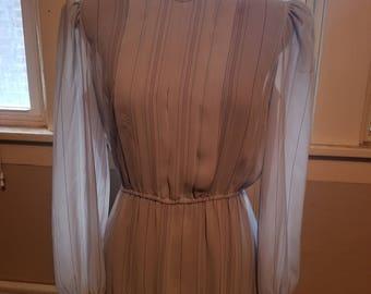 Vintage Charlee Allison for Eljay 1970s Sheer Dress Small