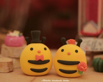 Bees wedding cake topper