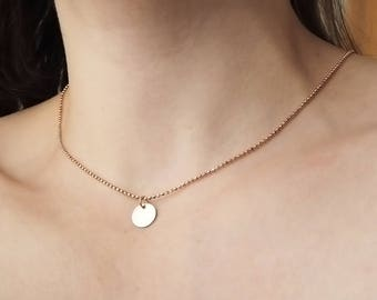 Rose gold necklace faceted 925 silver with plate pendant gold plated rosegold silver necklace 585 Red gold