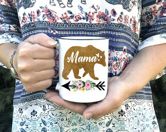 Mama Bear Coffee Mug  - Dishwasher Safe - Microwave Safe - Mother's Day Gift - Mom Gift - Gift for Mom from kids - Momma Bear Cups - Mom Cup