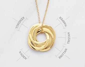 Mother Necklace • Custom Grandma Necklace • Gift for Mother-in-law • Sister Necklace • Grandma Gift • Grandmother Necklace CMN02-05