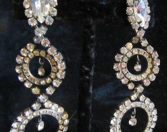 Vintage chandelier earrings | Etsy