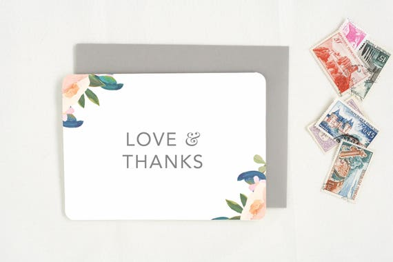 Wedding Gift Thank You Cards Pack : Thank You Cards. Wedding Thank You Card Set. Thank You Notes.