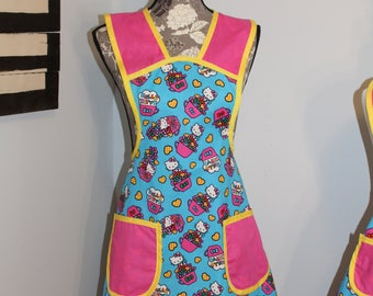Blue Hello Kitty Misses Size Small Apron