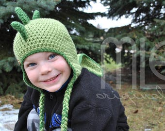 "Crochet Hat PATTERN ""Dino with Looooooooong Tail"" by MLE Originals, Dinosaur Crochet Hat Pattern, Crochet Dino Hat Pattern with Long Tail"