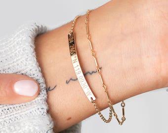Dainty Personalized Coordinates Bracelet, Custom Coordinates Bar, Latitude Longitude Minimalist Bracelet, Best Friend Gift