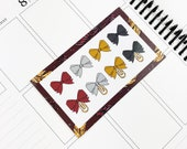 Brave // Bows (Glossy Planner Stickers)